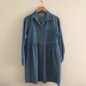 » Vintage denim babydoll dress